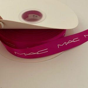 MAC Cosmetics Ribbon PINK with WhiteLOGO LETTERING